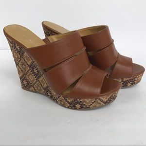 Nine West | Farring Aztec Tribal Tan Wedge Sandal
